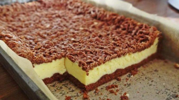 Este una din cele mai bune prăjituri cu brânză de vaci – Se numește Prăjitura sendviș